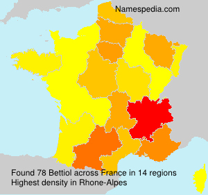 Surname Bettiol in France