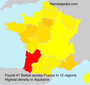Surname Bettoli in France
