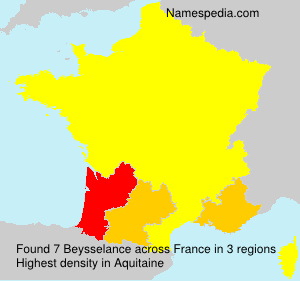 Surname Beysselance in France
