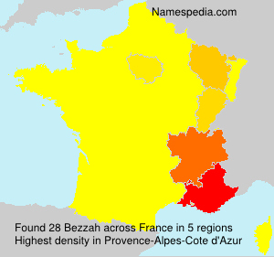 Surname Bezzah in France