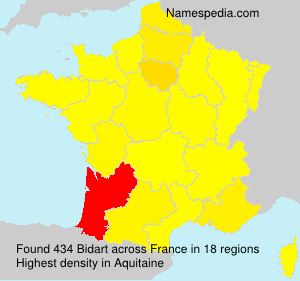 Surname Bidart in France