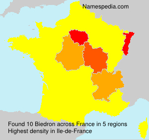 Surname Biedron in France