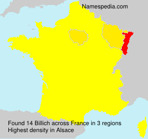 Surname Billich in France
