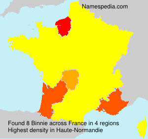 Surname Binnie in France