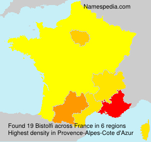 Surname Bistolfi in France