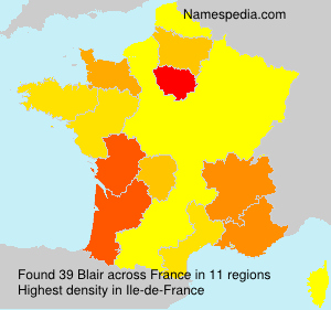 Surname Blair in France