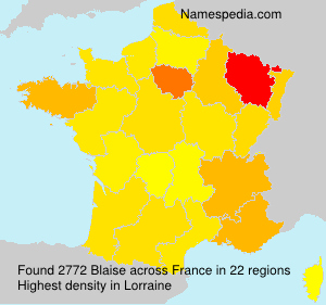 Surname Blaise in France