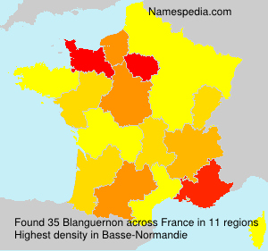 Surname Blanguernon in France