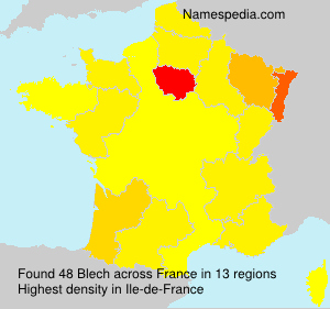 Surname Blech in France
