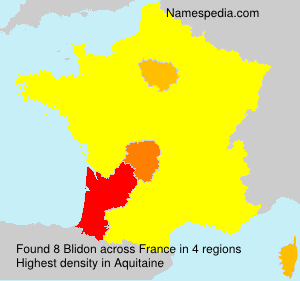 Surname Blidon in France