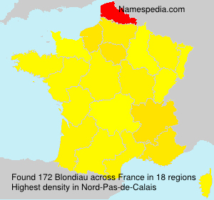 Surname Blondiau in France