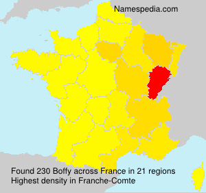 Surname Boffy in France