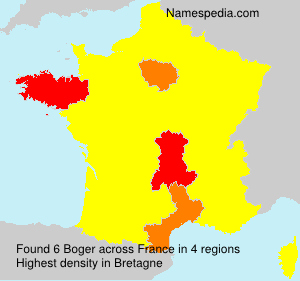 Surname Boger in France