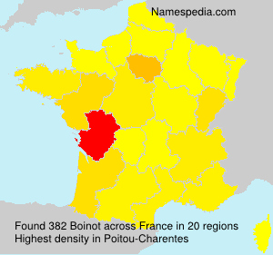 Surname Boinot in France
