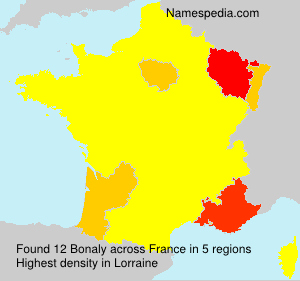 Surname Bonaly in France