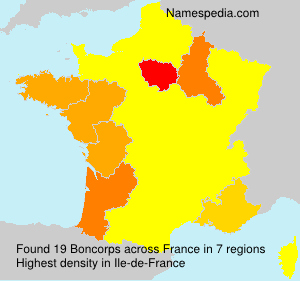 Surname Boncorps in France
