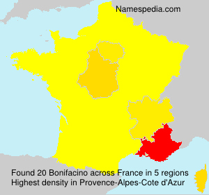 Surname Bonifacino in France