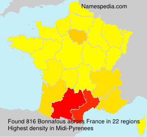 Surname Bonnafous in France