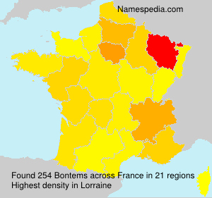 Surname Bontems in France