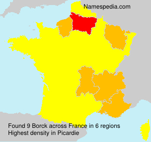 Surname Borck in France
