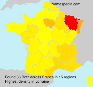 Surname Botz in France