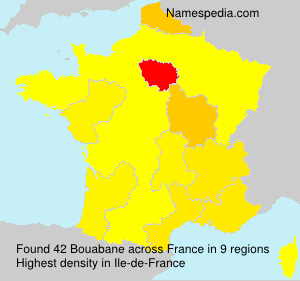 Surname Bouabane in France