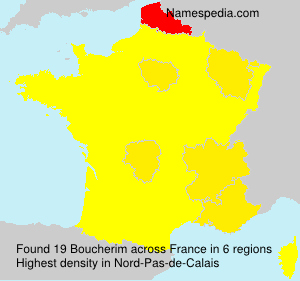 Surname Boucherim in France