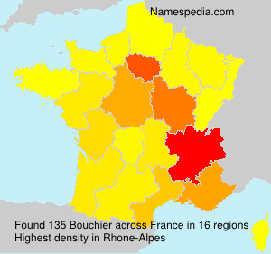 Surname Bouchier in France