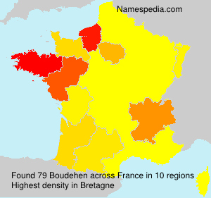 Surname Boudehen in France
