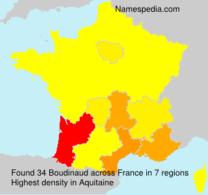 Surname Boudinaud in France