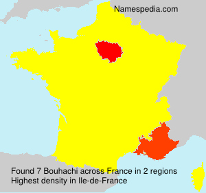 Surname Bouhachi in France