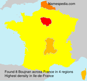 Surname Boujnan in France