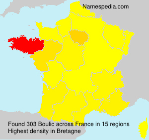 Surname Boulic in France