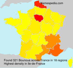 Surname Bounoua in France