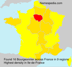 Surname Bourgeonnier in France