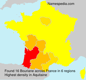 Surname Bouriane in France