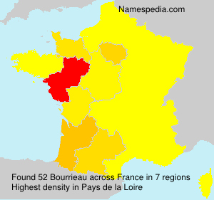 Surname Bourrieau in France