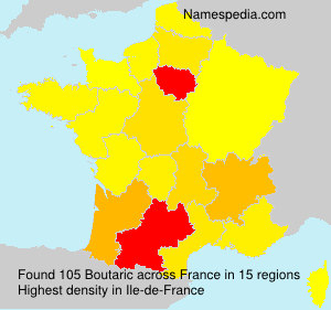 Surname Boutaric in France