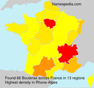 Surname Bouteraa in France