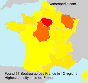 Surname Boutrou in France