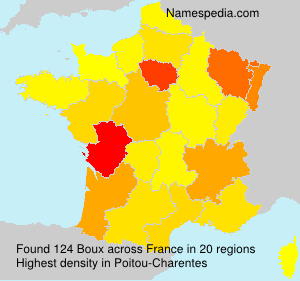 Surname Boux in France