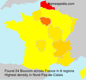 Surname Bouxom in France