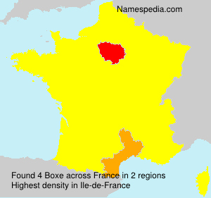 Surname Boxe in France