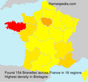 Surname Branellec in France