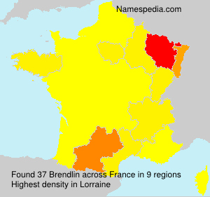 Surname Brendlin in France