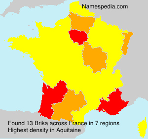 Surname Brika in France