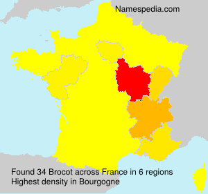 Surname Brocot in France