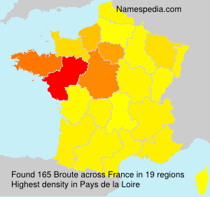 Surname Broute in France