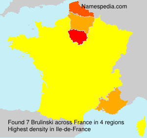 Surname Brulinski in France