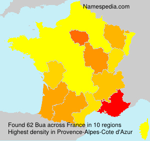 Surname Bua in France
